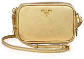 Prada Metallic Saffiano Camera Crossbody Bag