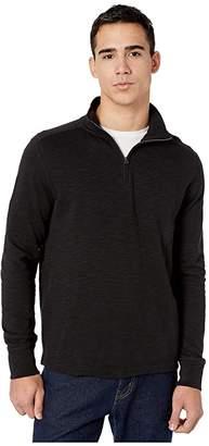J.Crew Double-Knit Half-Zip Pullover (Black) Men's Clothing