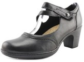 Earth Origins Bristol Women Round Toe Leather Black Mary Janes.
