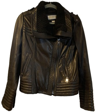 Michael Kors Black Leather Leather jackets