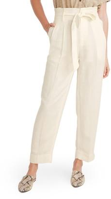 Madewell Paperbag Waist Linen Blend Pants