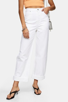 Topshop One Oversized Mom Tapered Jeans