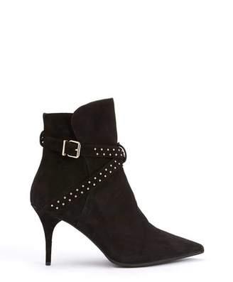 Mint Velvet Emily Black Suede Ankle Boots