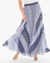 Pleated Geo Maxi Skirt