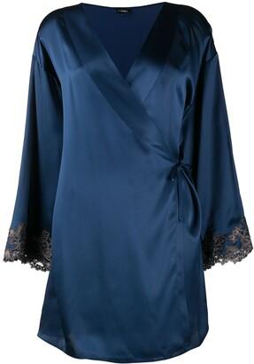 La Perla Maison lace trim robe