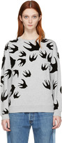 McQ by Alexander McQueen Grey Swallow Pullover