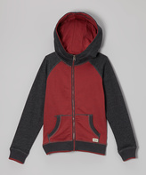 Micros Heather Red Zip-Up Hoodie - Boys