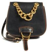 Miu Miu 'Dahlia' Goatskin Leather Saddle Bag - Black