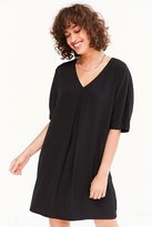 Silence & Noise Silence + Noise Pleat-Front Cocoon Mini Dress