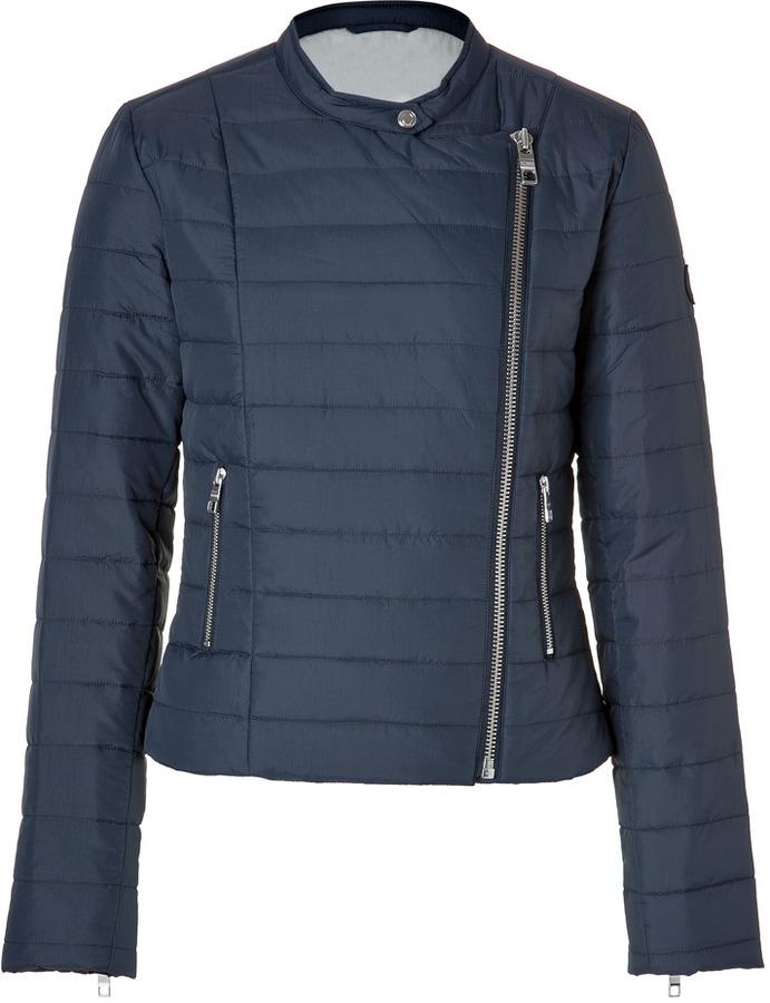 Closed Haymarket Jacket in Navy