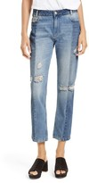 Free People Women's The Patchwork High Waist Crop Jeans