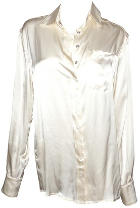 Plein Sud Jeans Ecru Silk Top for Women