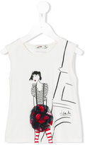 Jean Paul Gaultier printed T-shirt - kids - Spandex/Elastane/Viscose - 36 mth