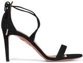 Aquazzura Linda Suede Sandals - Black