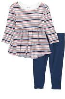 Splendid Infant Girl's Stripe Tunic & Leggings Set