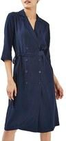 Topshop Women's Dot Jacquard Midi Wrap Dress