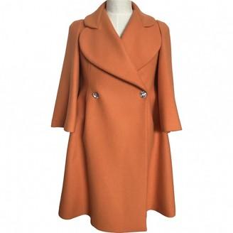 Sonia Rykiel Orange Wool Coat for Women