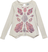Lucky Brand Heather Gray Paisley Tee - Toddler & Girls