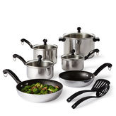 Farberware 12-pc. Stainless Steel Cookware Set