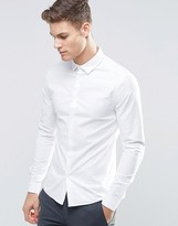 Asos Smart Skinny Oxford Shirt In White