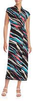 Kensie Striped Surplice Maxi Dress