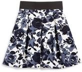 Aqua Girls' Pleated Floral Skirt - Sizes S-XL