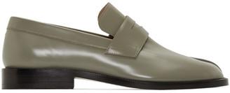 Maison Margiela Green Tabi Advocate Loafers