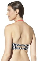 Xhilaration Junior's Chevron Midkini Swim Top -Navy