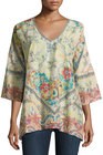 johnny was dunes floralprint top multi pattern
