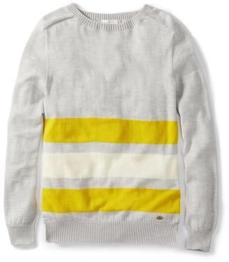 Peregrine - Light Grey Colour Stripe Jumper - XS - Grey/White/Yellow