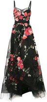 Marchesa floral embroidered maxi dress
