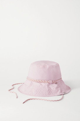 Rag & Bone Rope-trimmed Cotton Bucket Hat - Baby pink