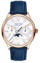 Movado Heritage Rose Goldtone Stainless Steel & Leather Strap Celestograf Watch