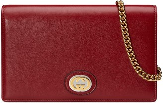 Gucci Marina Leather Card Wallet on a Chain