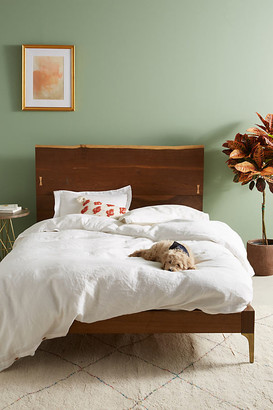 Anthropologie Prana Live-Edge Bed By in Brown Size QN TOP/BED