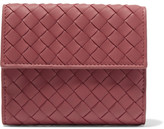 Bottega Veneta Intrecciato Leather Wallet - Red