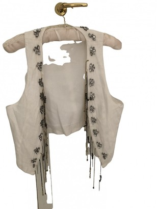 Marella White Linen Knitwear for Women