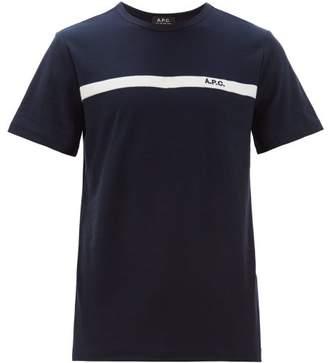 A.P.C. Yukata Logo-embroidered Cotton T-shirt - Mens - Navy