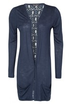 Select Fashion Fashion Womens Blue Lace Back Cardi - size 6
