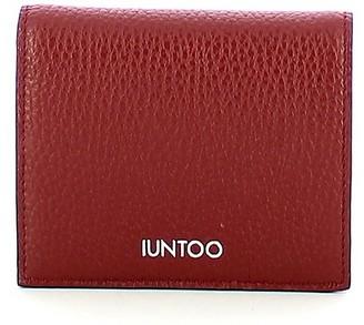 Iuntoo Red Leather Armonia Bi-Fold Women's Wallet