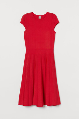 H&M Flared Dress - Red