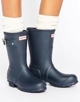 Hunter Short Navy Adjustable Wellington Boots
