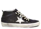 Golden Goose Deluxe Brand Mid Star canvas and suede trainers