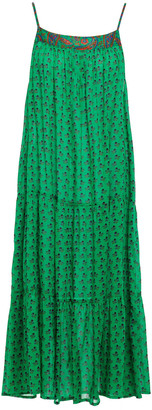 BA&SH Tiered Floral-print Cotton Dress