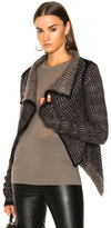 Rick Owens Butterfly Wrap Cardigan in Abstract,Black,Brown.
