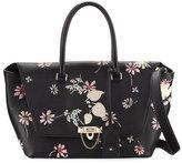 Valentino Demilune Medium Floral Satchel Bag