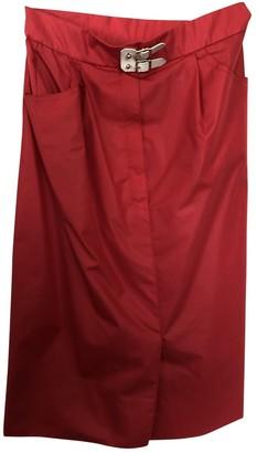 Hermes Red Cotton Skirt for Women Vintage