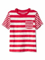 Gap Mix-stripe pocket slub tee