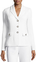 St. John Santana Embellished Three-Button Blazer