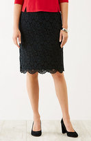 J. Jill Wearever Lace Skirt